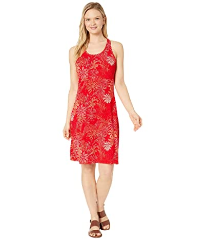 Columbia Peak To Point Knit Dress (Bright Poppy Got Florals) Women