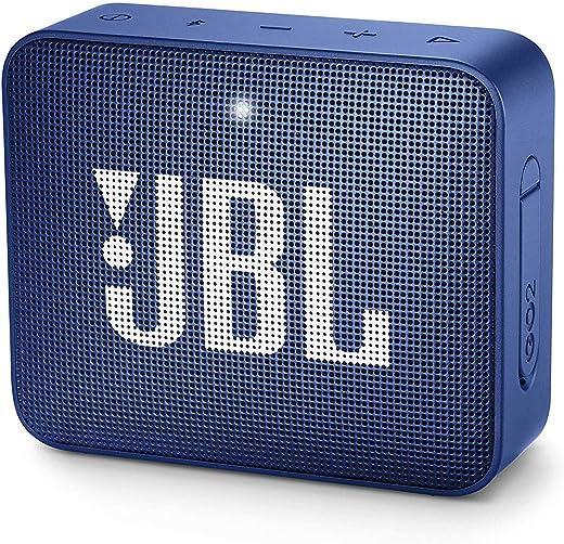 JBL GO 2 kleine Musikbox in Blau – Wasserfester, portabler Bluetooth-Lautsprecher mit Freisprechfunktion – Bis zu 5 Stunden Musikgenuss mit nur…