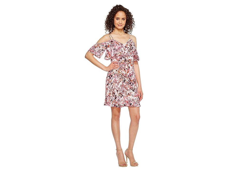 Jessica Simpson Printed Cold Shoulder Dress JS7A9571 (Print) Women