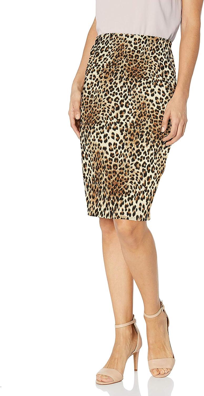 Star Vixen Womens Below-Knee Pencil Skirt with Back Slit