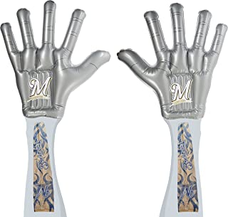 MLB ThunderHands/Authentic Tattoo Combo Pack with Jumbo Inflatable Fan Hands and Tattoo Sleeves