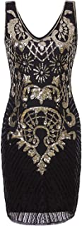 1920s Vintage Charleston Downton Gatsby Sequin Embellished Flapper Dress