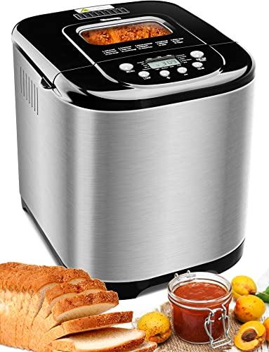 popular MICHELANGELO Stainless Steel Bread Machine Maker,2.2LB 15-in-1 sale Automatic Bread Maker Gluten Free, Nonstick Pan and 1 Hour Keep Warm Set, 3 sale Loaf Sizes, 3 Crust Colors, Recipes Included outlet online sale