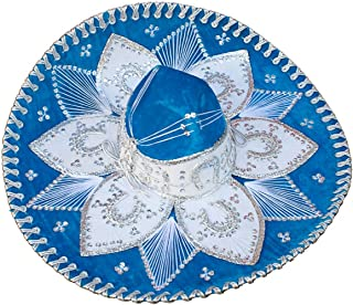 Light Blue and White Mariachi Sombrero