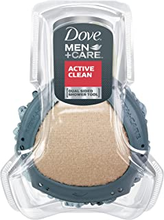 Dove Men+Care Shower Tool, Active Clean 1 ct Pack of 4