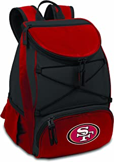 NFL San Francisco 49ers PTX Insulated Backpack Cooler, Red