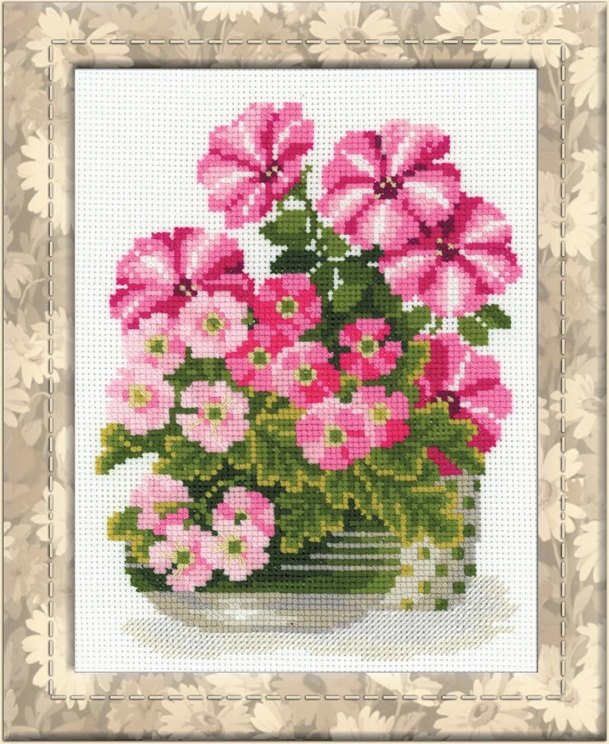 RIOLIS 1115 - Petunias & Primroses - Counted Cross Stitch Kit 7?
