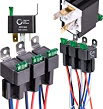Best ONLINE LED STORE 6 Pack 4-Pin 12V Bosch Style Fused Relay Switch Kit [Interlocking Harness Socket Holder] [14 AWG Hot Wires] [SPST] [30 Amp] 12 Volt Automotive relays with Fuse for Auto Cars Review