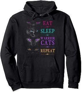Eat Sleep Warrior Cats Repeat Funny Cat Warrior Hoodie