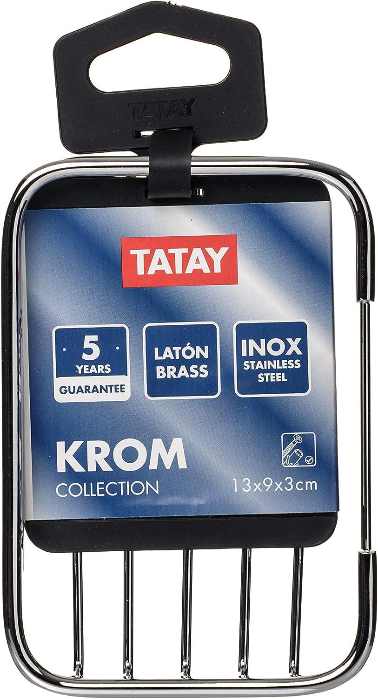 135 x 90 x 30 cm Chrome TATAY Krom Rettangolare Cestino Cromato 135/x 90/x 30/cm