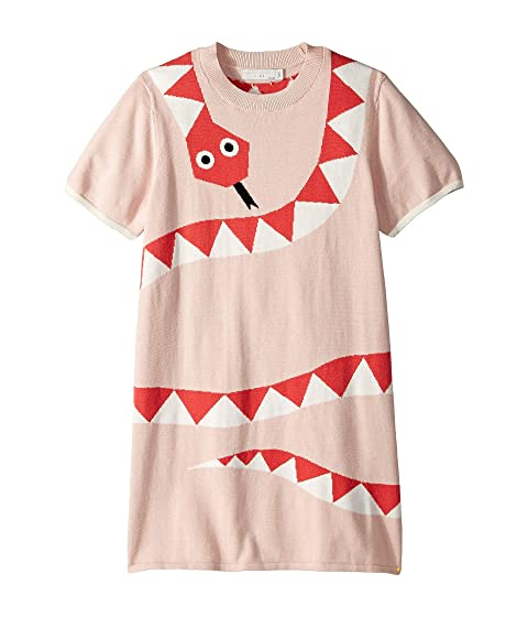 Stella McCartney Kids Short Sleeve Snake Sweater Dress Early (Toddler/Little Kids/Big Kids)