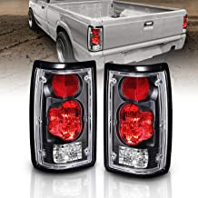 AmeriLite Black Euro Tail Lights for Mazda B2000 - Passenger and Driver Side