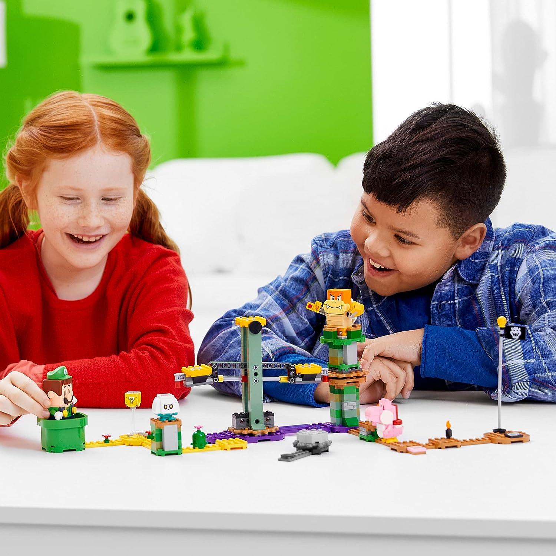Lego Mario Luigi Starter Course - Kids with the playset