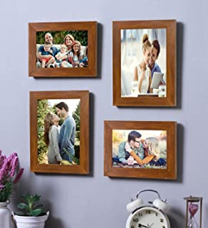 Painting Mantra Acrylic Art Street Wall Photo Frame (Brown)