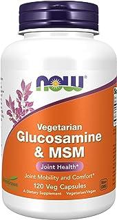 NOW Supplements, Glucosamine & MSM (Not Shellfish Derived), Vegetarian , 120 Veg Capsules