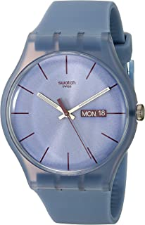 Unisex SUOS701 Quartz Plastic Violet Dial Watch