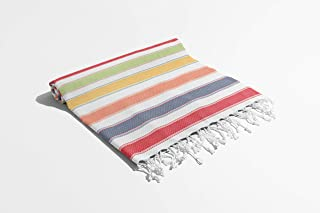 Arkwright Sandfree Turkish Towels 100% Cotton, Perfect for Beach Towel for SPA, Bath, Pool and Bathroom (35 x 75 inch, Fun)