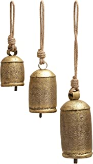 Deco 79 26718 3-Piece Metal Rope Animal Bell Set