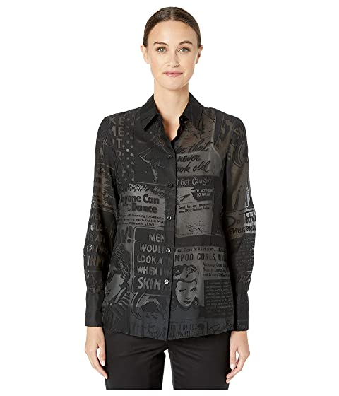 Boutique Moschino Newspaper Print Blouse