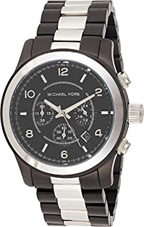 Michael Kors Mens Quartz Watch, Chronograph Display and Stainless Steel Strap MK8182