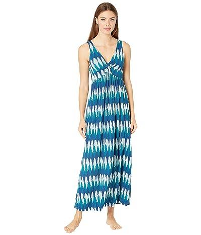 Kickee Pants Print Simple Twist Nightgown (Navy Forestry) Women
