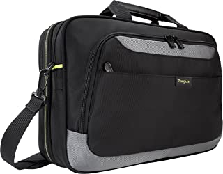 Targus CityGear II Professional Travel and Checkpoint-Friendly Laptop Briefcase for Macbook/Notebook with Protective Sleeve for 15.6-Inch Laptop, Black (TCG465)