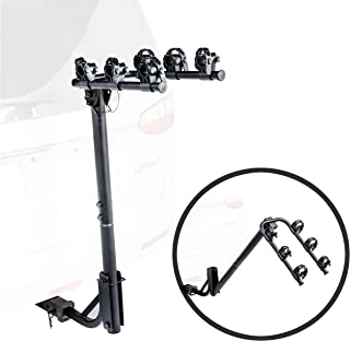 Dependable Direct 3-Bike Rack Hanging Bicycle Carrier - Hitch Mounted for 1.25