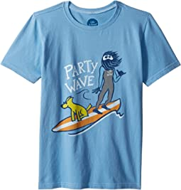 Life is Good Kids Party Wave Surf Crusher Tee (Little Kids/Big Kids)
