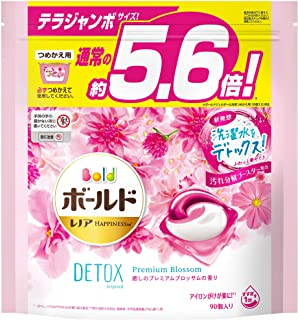 ボールド 洗濯洗剤 ジェルボール 洗濯水をデトックス 癒しのプレミアムブロッサム 詰め替え 90個(約5.6倍)