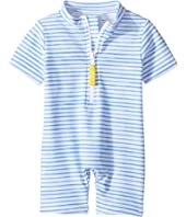 Toobydoo - Blue Watercolor Sunsuit (Infant/Toddler)