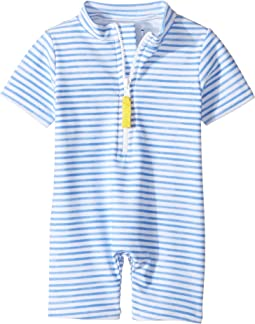 Blue Watercolor Sunsuit (Infant/Toddler)