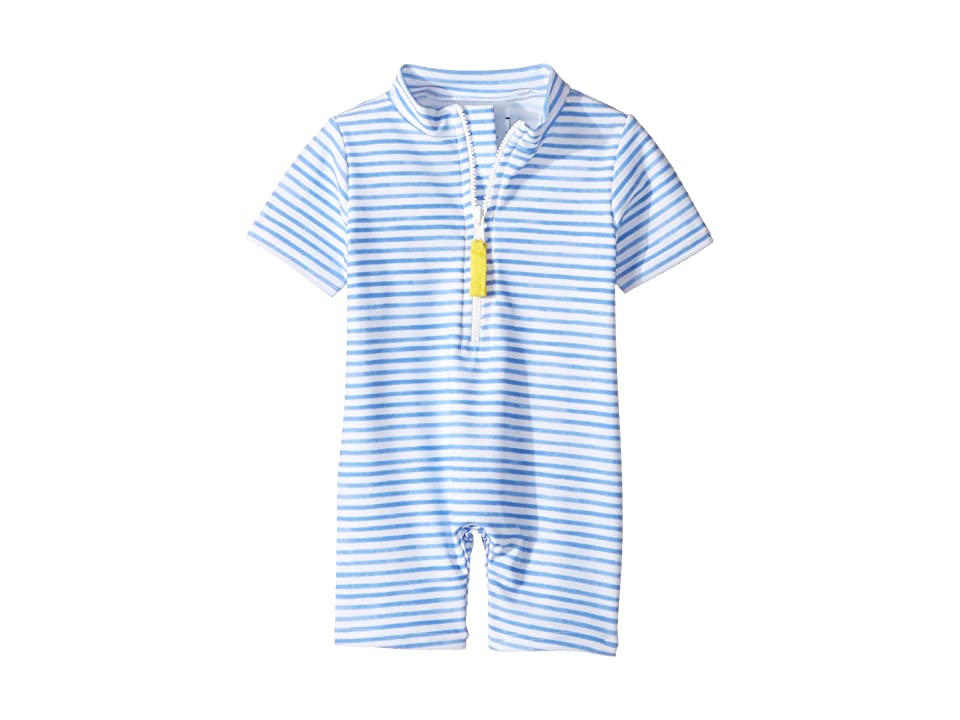 Toobydoo Blue Watercolor Sunsuit (Infant/Toddler) (Blue/White) Girl