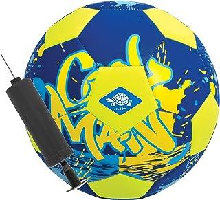 Balón de Fútbol de Playa de Neopreno, con Mini Bomba, Tamaño 5, Ø 21 cm, Superficie Textil Antideslizante, Resistente al Agua Salada