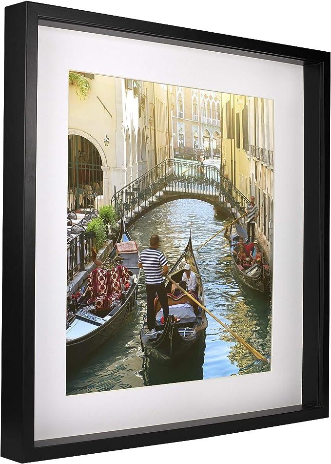 4123 opinioni per BD ART 50 x 50 cm Box 3D Cornice Portafoto Profonda Colore Nero con Passepartout