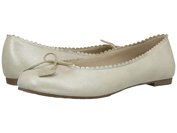 Elephantito  Scalloped Ballerina (Toddler/Little Kid/Big Kid) (Talc) Girls Shoes