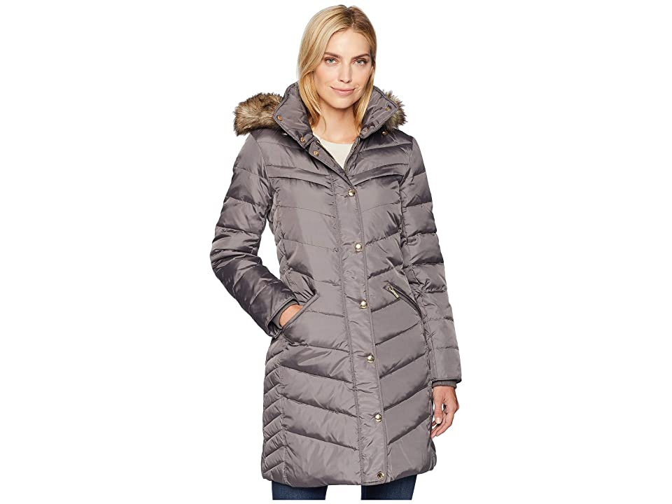 MICHAEL Michael Kors Snap Front 3/4 Down with Hood M823172G (Flannel) Women