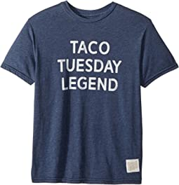 Taco Tuesday Legend Short Sleeve Heathered Tee (Big Kids)
