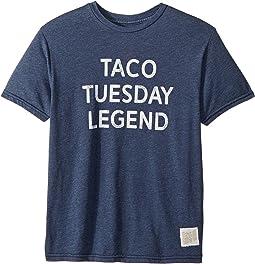 The Original Retro Brand Kids Taco Tuesday Legend Short Sleeve Heathered Tee (Big Kids)