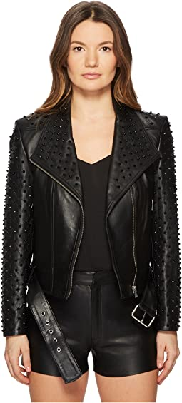 Ella Rock Studded Moto Leather Jacket