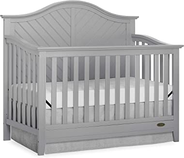Dream On Me Ella 5-in-1 Full Size Convertible Crib in Pebble Grey, Greenguard Gold Certified