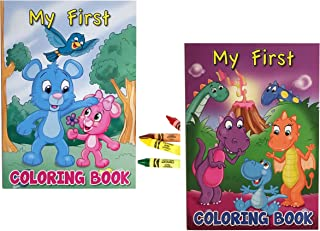 Simple Brilliance Toddler Coloring Books - My First Coloring Books and Crayola Jumbo Crayons Set