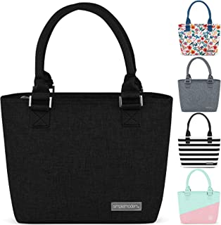 Simple Modern 4L Cara Lena Lunch Bag for Women - Black Insulated Lunch Box - Midnight Black