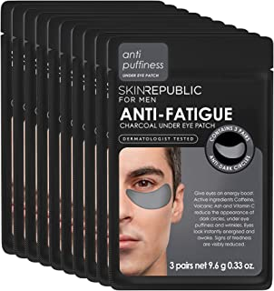 Skin Republic Men's Anti-Fatigue Under Eye Patch Reducing Dark Circles Puffiness and Wrinkles 3 pair of patches per Pack 1...