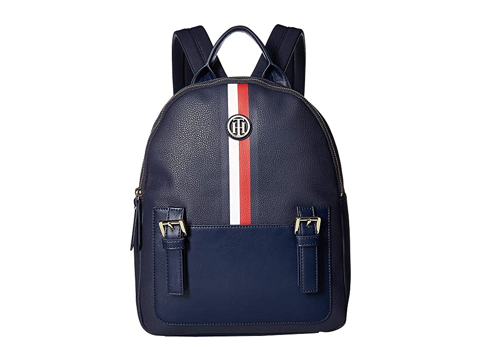 Tommy Hilfiger Imogen Pebble PVC Backpack (Tommy Navy) Backpack Bags