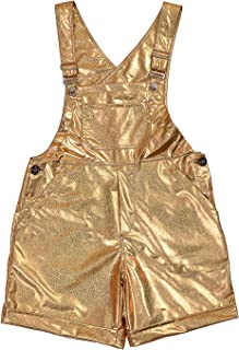 BFD Shiny Holographic Gold Or Silver Dungarees with Adjustable Straps for Men. One Size Fits Small to Medium. Wash On Cool...