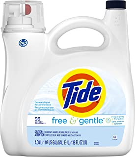 Tide Free & Gentle Liquid Laundry Detergent 96 Loads, 4.08L