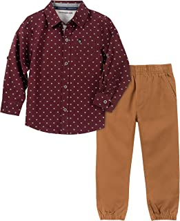 Calvin Klein Boys' 2 Pieces Shirt Pants Set