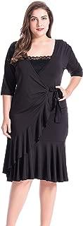 Chicwe Women's Plus Size Whimsy Wrap Dress 0X-4X