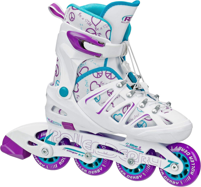 Roller Derby Girl's Stinger Inline Super special price Overseas parallel import regular item Adjustable 5.2 Skate