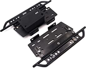 KYX Racing Metal Side Step Running Boards Foot-Plate w/Receiver Box for 313mm Wrangler Body (Aluminum)